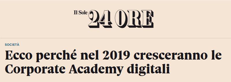 Ecco perché nel 2019 cresceranno le Corporate Academy digitali