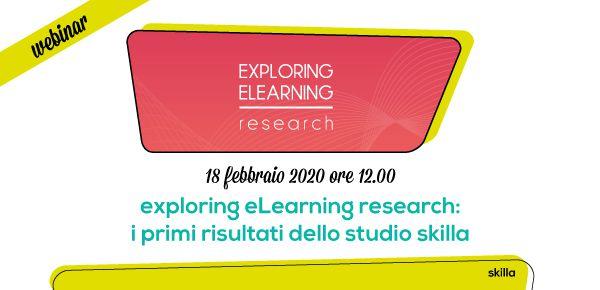 Webinar skilla: exploring eLearning research - i primi risultati dello studio skilla