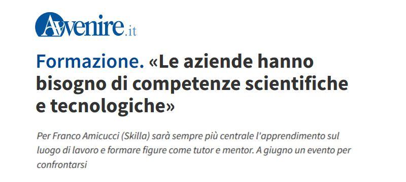 Formazione. «Le aziende hanno bisogno di competenze scientifiche e tecnologiche»