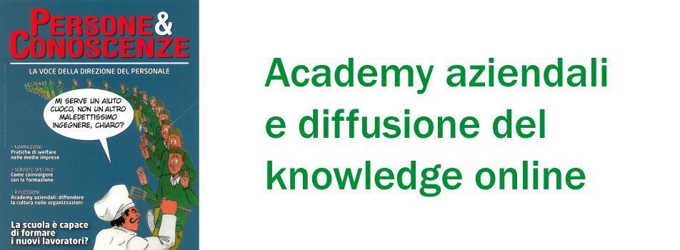 Academy aziendali e diffusione del knowledge online