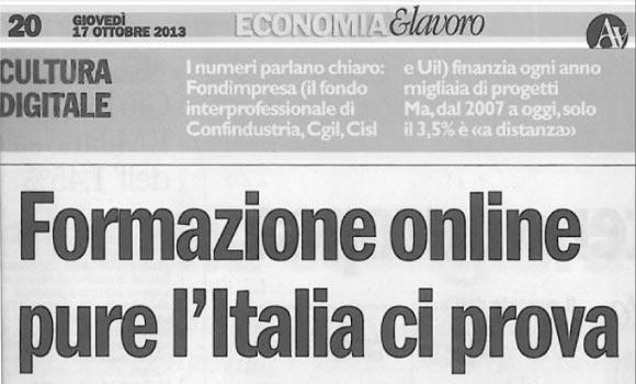Formazione online pure l'Italia ci prova