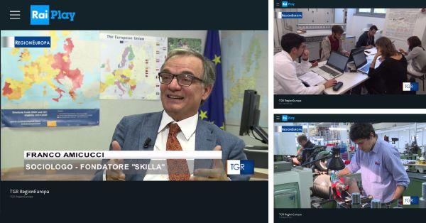 TG3: formazione professionale in Europa e in Italia. Intervista a Franco Amicucci
